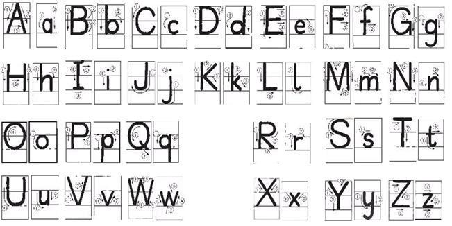 大小写英文字母笔顺图片