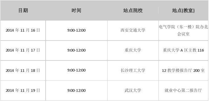 2015国家电网内蒙古东部电力公司校园招聘行程安排(二)