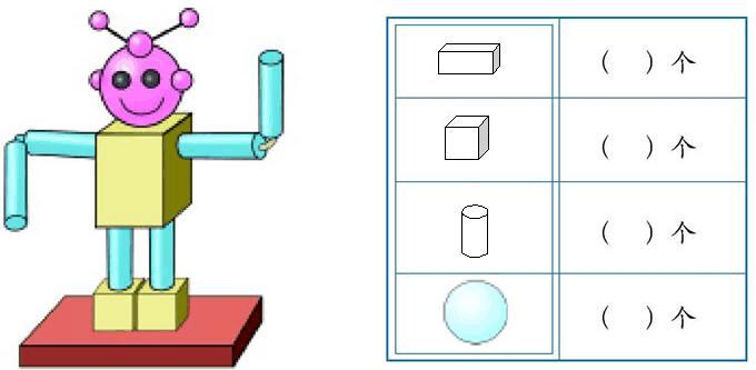最新北师大版小学一年级数学期末认识图形练习题(精品试卷)