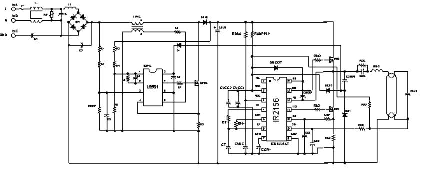 照明稳压器原理电路简图
