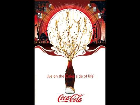 可口可乐平面广告分析图片