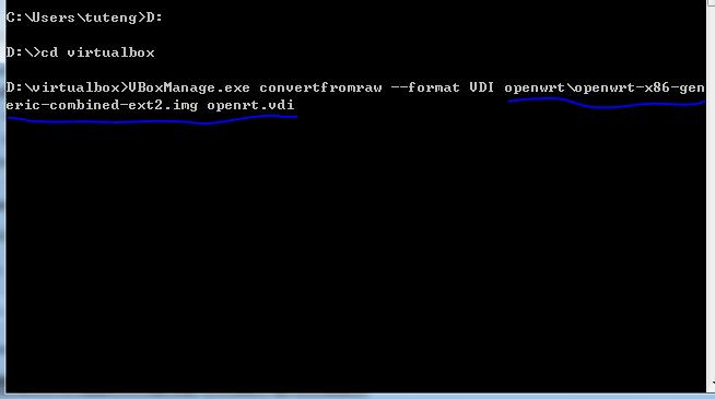 Virtualbox中安装Openwrt