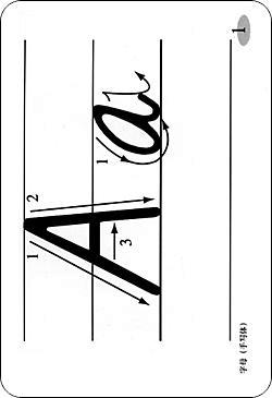26个字母书写体笔顺图片