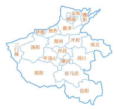 区划地�_河南省行政区划及地图