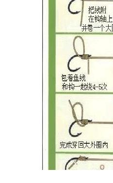 台钓常见的鱼钩子线八字环绑法大全