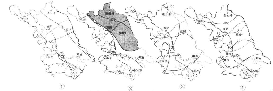 南京——亚热带常绿阔叶林;连云港——温带季风气候图片