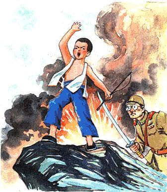 抗日英雄的故事抗战抗日反法西斯电子小报成品简报报刊手抄报模板画报