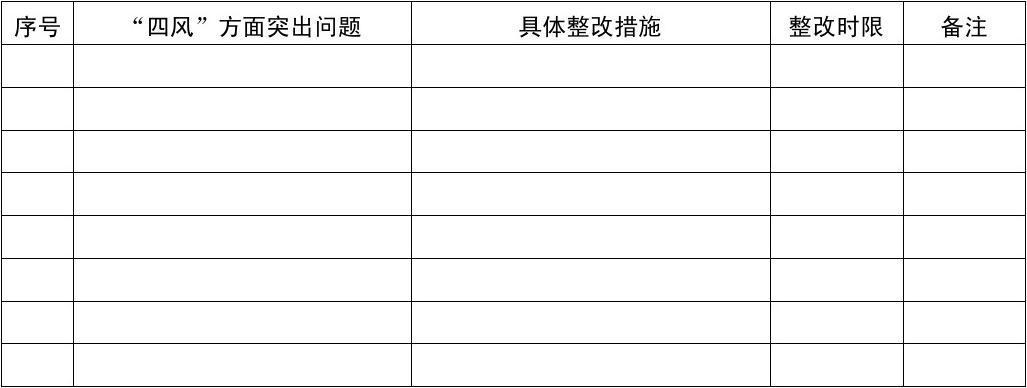 党员领导干部个人整改清单(参考样式)