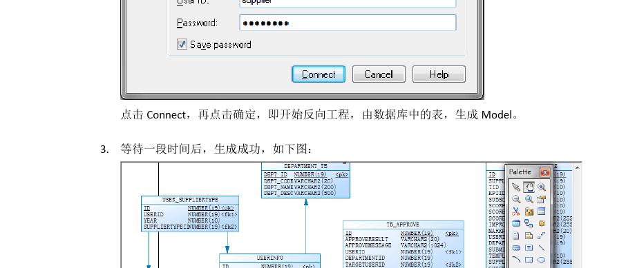 通过powerdesigner从数据库导出表结构到word图片