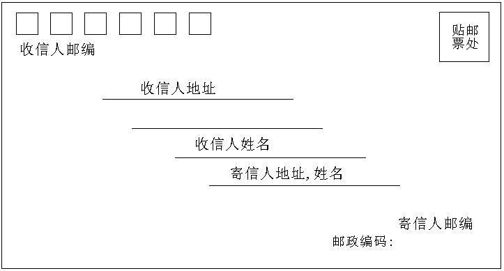 信封的填写格式图片
