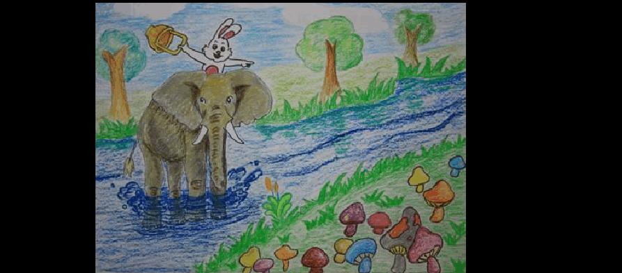 2,编鱼龙过河故事要背小大象过河?他们是想想的?宝宝白兔洛克王国图片
