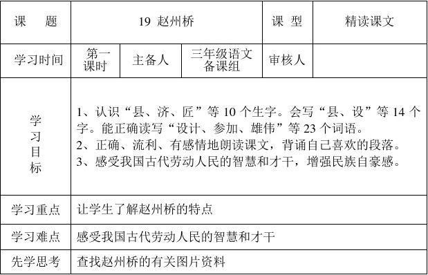 赵州桥的教学反思图片图片