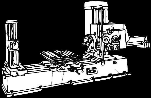 免费文档 所有分类 t68卧式镗床使用说  1-支承架2-后立柱3-工作台4图片
