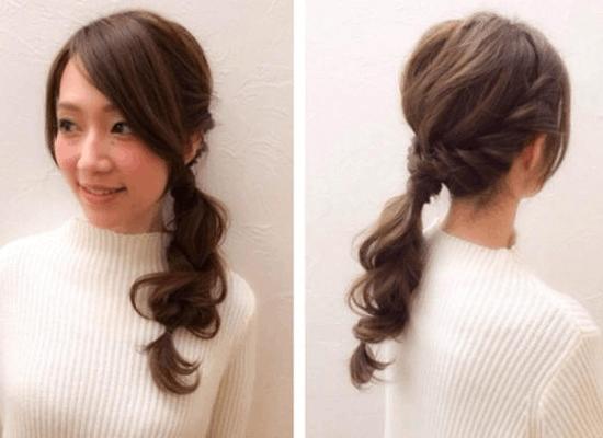 长头发简单漂亮扎法 超简单不失甜美的低马尾图片