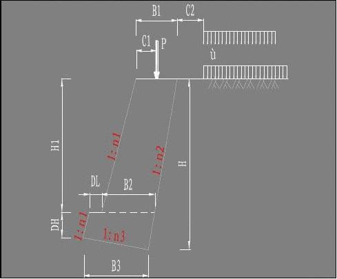 衡重式挡土墙标准图_重力式挡土墙计算软件(仰斜式)_文档下载