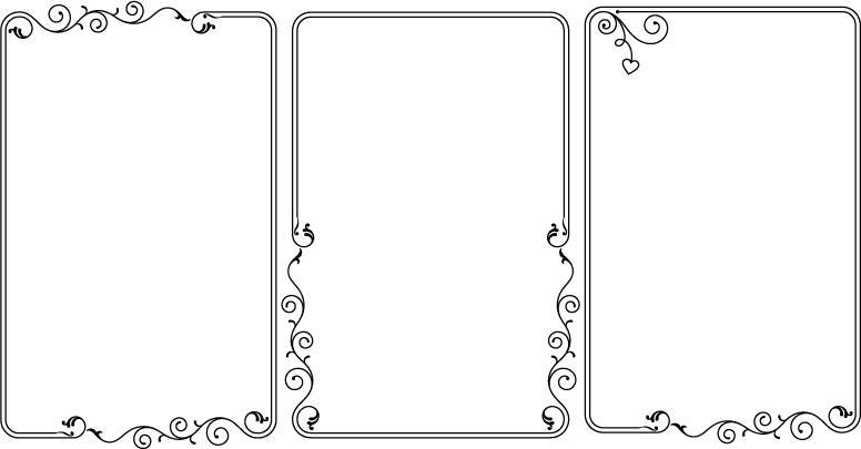 手抄报或黑板报用得到的花边(自己整理的)