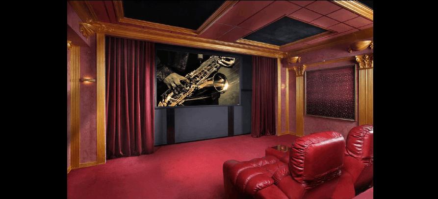 地下室家庭影院_别墅地下室剧院级家庭影院设计