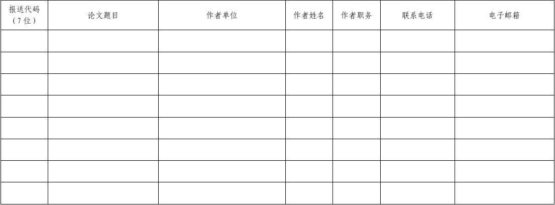 全国第四届中小学艺术教育校长论坛论文报送表