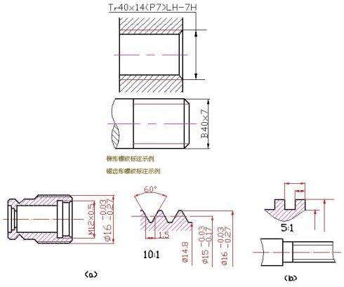 管螺纹标注_机械制图中英制螺纹如何标注?-英制螺纹在图纸上具体怎么标注,