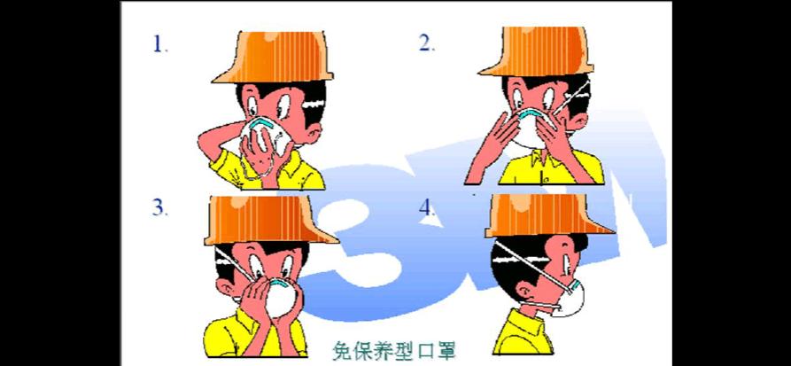 n95口罩正确佩戴方法图片