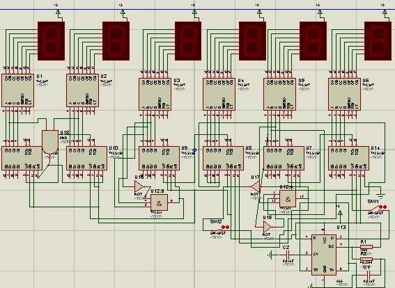 数字时钟电路原理图_关于数电《数字钟》的课程设计-