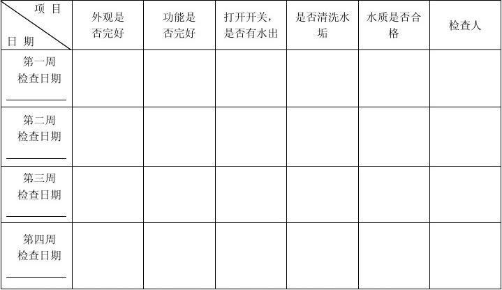 饮水机清洗保养记录表[1]