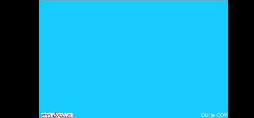 PS艺术字体设计教程:海洋蓝水晶艺术字