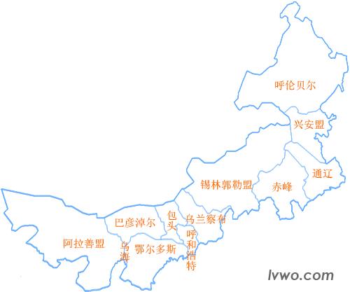 区划地�_内蒙古自治区行政区划及区划地图