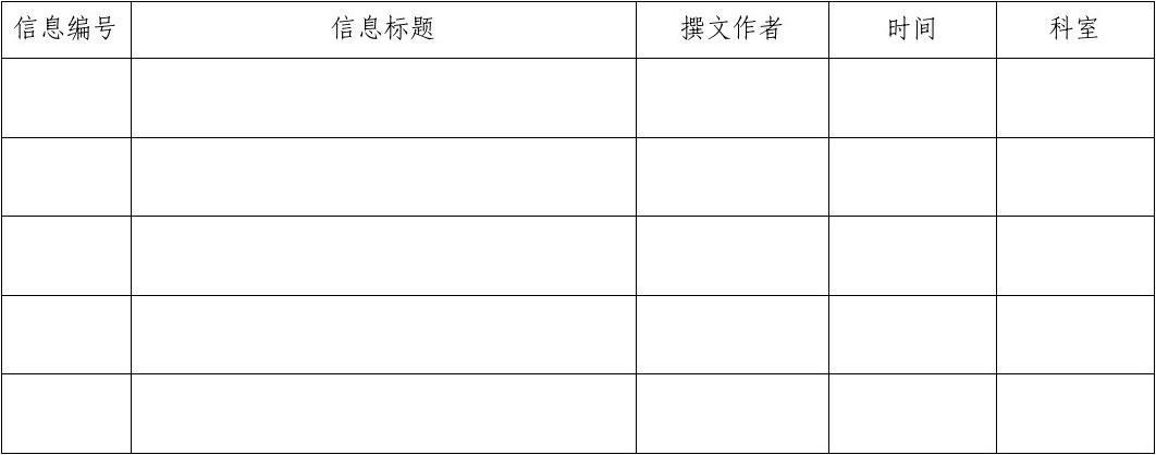信息登記臺帳