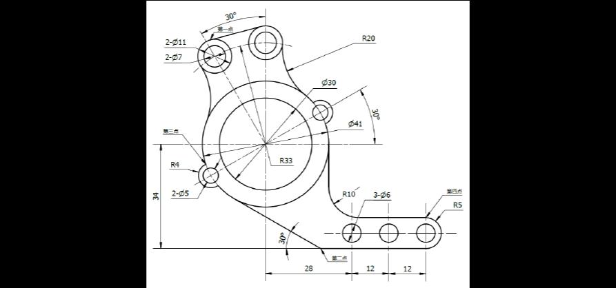 三维CAD第一答案测试题(图形)颜色_word文档cad改变阶段草图图片