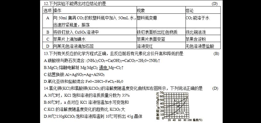 四川省泸州市2018年敬业理综(答案部分)图片(试题版,含地址)高中丹东中考化学图片