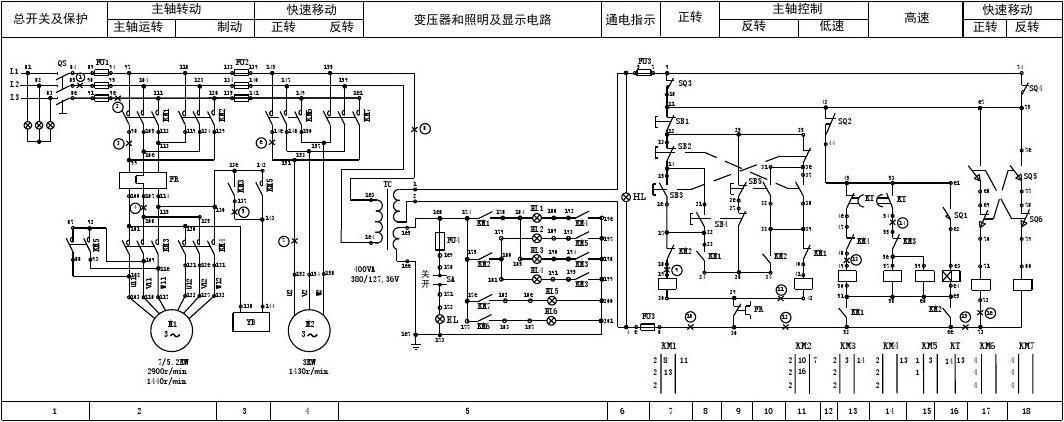 t68镗床原理图图片