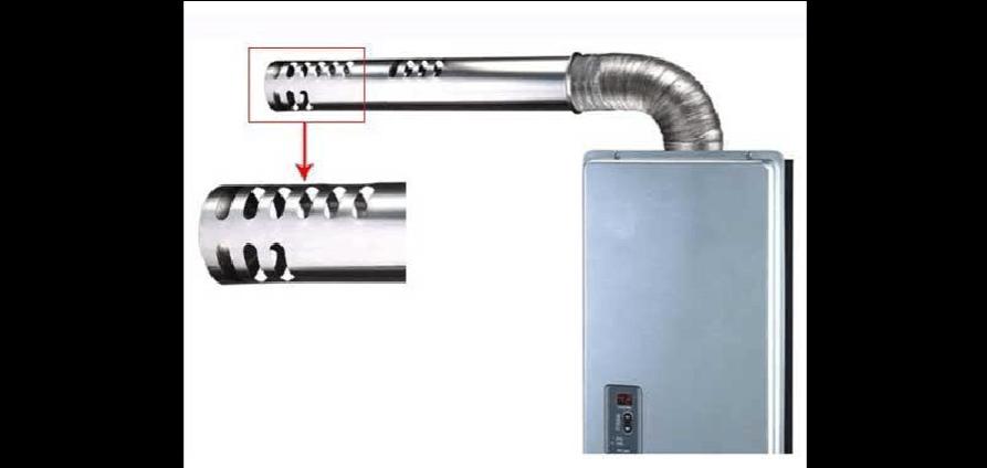 燃气热水器应安装平衡式排烟管防冻裂图片