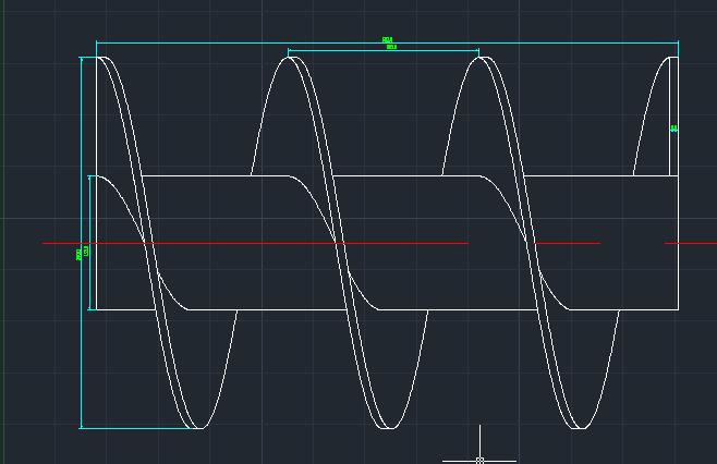 画法输送机绞龙叶片下料CAD公式及安装螺旋cad重计算图片