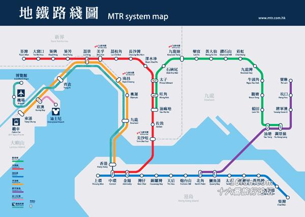 香港地铁_香港地铁线路图及价格