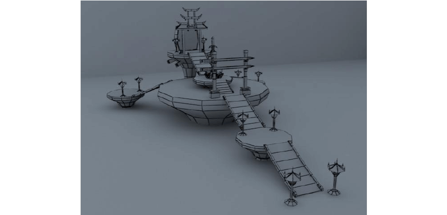 maya游戏场景模型设计用哪些软件?图片
