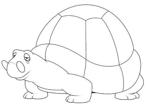 儿童涂色简笔画动物篇-A4打印-14个(1页)