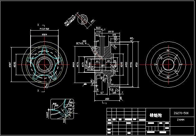 链轮图纸画现代v链轮建筑设计图片