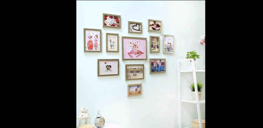 照片墙相框摆放技巧图片