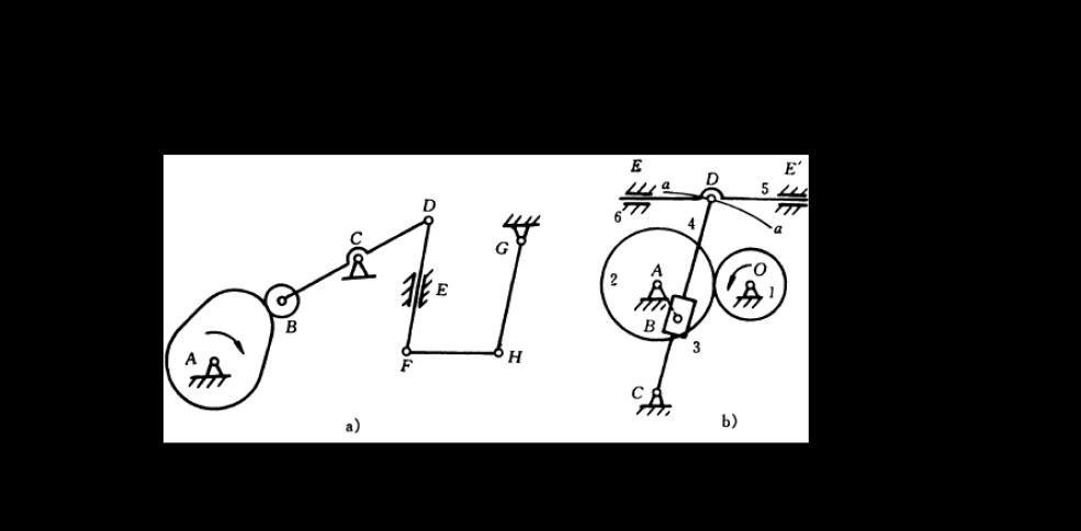平面机构自由度例题_机械原理平面机构的运动简图及自由度题答案_文档下载