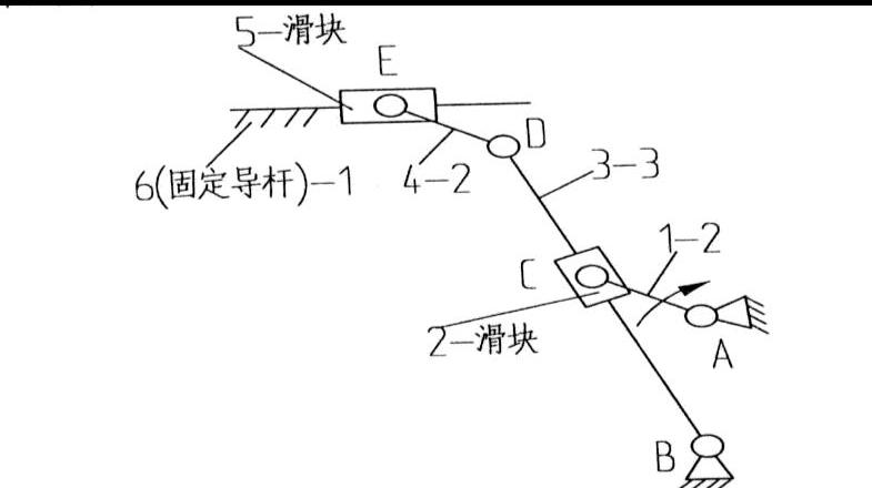 0《机械创新设计》课程实验报告-刨床导杆机构图片