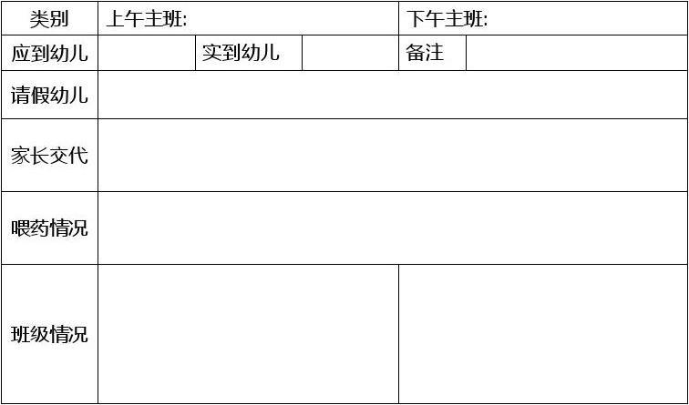幼儿园接送登记表_幼儿园班级交接表_word文档在线阅读与下载_无忧文档
