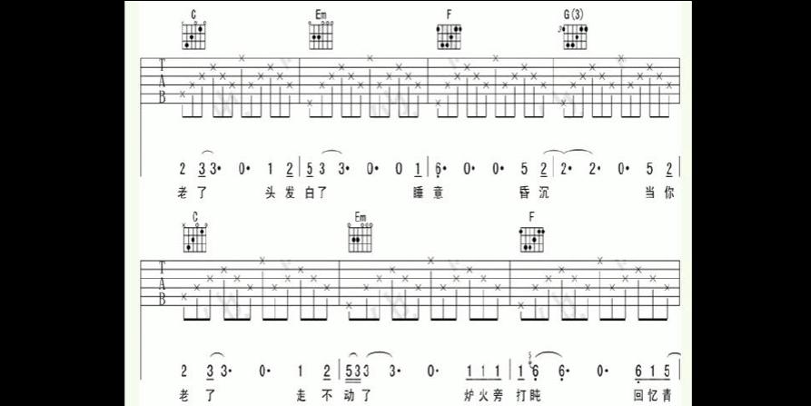 当你老了钢琴简谱_高中教育 英语 当你老了吉他谱  第1页 (共3页,当前第1页) 的相关文档