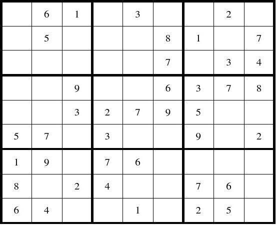 数独题目200题(后附答案)