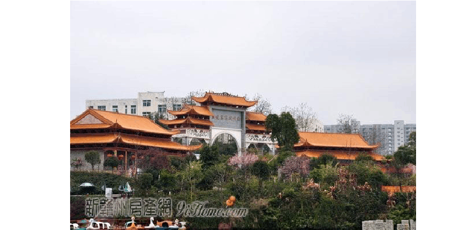 赣州五龙桂园庆美苑电梯洋房园林已经开始施工