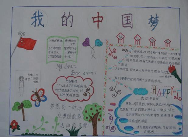 """镇原:""""我的中国梦""""学生手抄报展示"""
