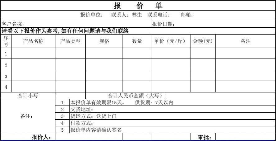 外贸公司邮箱地址_公司产品报价单(简易模板)_word文档在线阅读与下载_免费文档