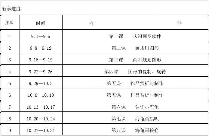 信息四年级小学教案技术教学计划、小学(贵州计划上册研修美术图片