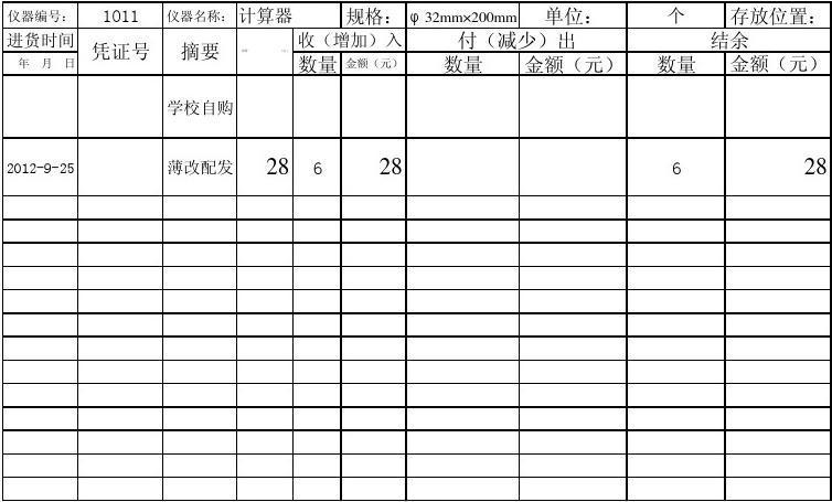 鳳池中學數學實驗儀器表冊6-11