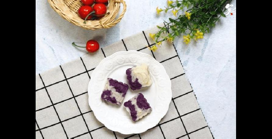 【药膳】紫薯山药糕